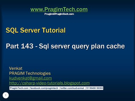 sql query plan tutorial sql server net and c video tutorial sql server query