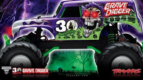 grave digger truck 30th anniversary grave digger wallpapers wallpaper cave
