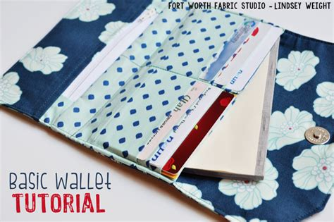 tutorial wallet fabric fort worth fabric studio basic wallet tutorial