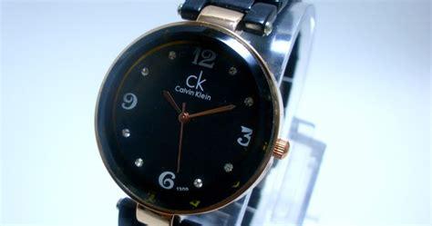 Jam Tangan Wanita Ck Celvin Klein Black Rantai Simple Elgant arloji jam tangan calvin klein tali fiber