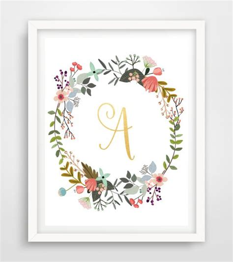 free download printable wall art monogram print printable wall art custom print by