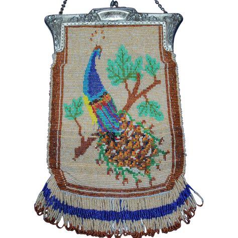 vintage beaded purses vintage beaded peacock purse from everydaysagift on ruby