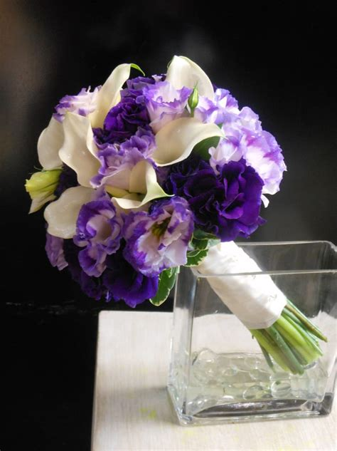 Bridal Bouquets Near Me by Picasso Miniature Calla Lilies And Lisianthus Highlight