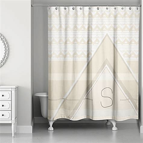 buy geo shower curtain in ivory/cream from bed bath & beyond