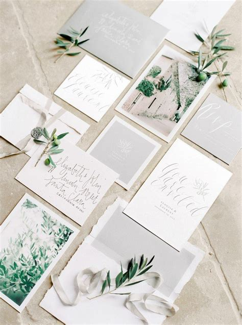 Wedding Invitation Trends 2018 by Trending 21 Green And Grey Wedding Color Ideas For