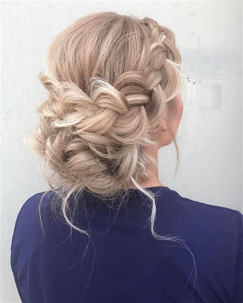 prom hairstyles bohemian beautiful boho braid updo wedding hairstyle for romantic