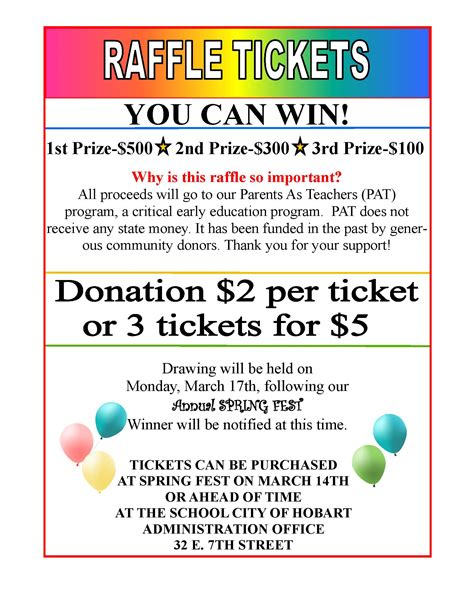 raffle ticket templates 9 images the heigths