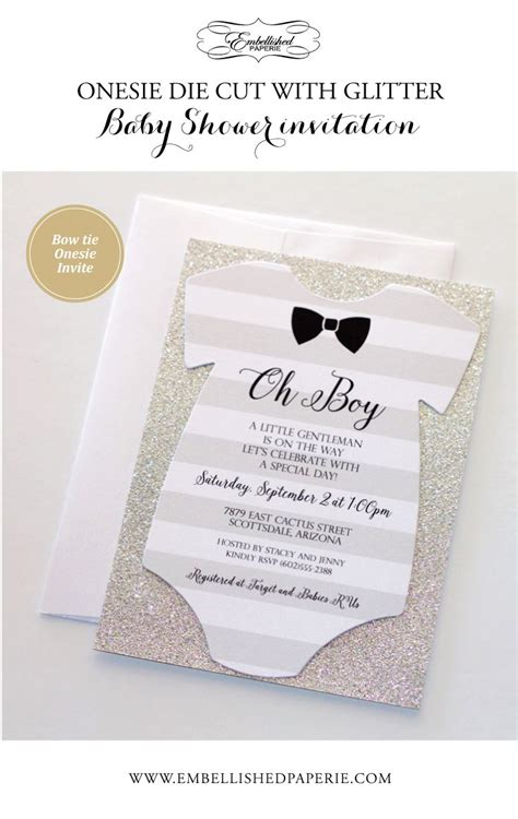Handmade Boy Baby Shower Invitations - 25 best ideas about invitations baby showers on