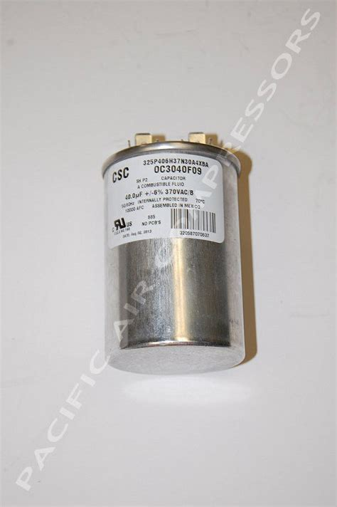 capacitor rating for 5hp motor oc3040f09sp baldor run capacitor 40uf for model l1410t factory air compressor parts
