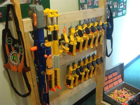 How To Build A Nerf Gun Rack by Pin By Jacob Butterfield On Guns