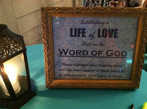 Bible Verses During Wedding by During Your Reception A Special Table Set With A New Bible