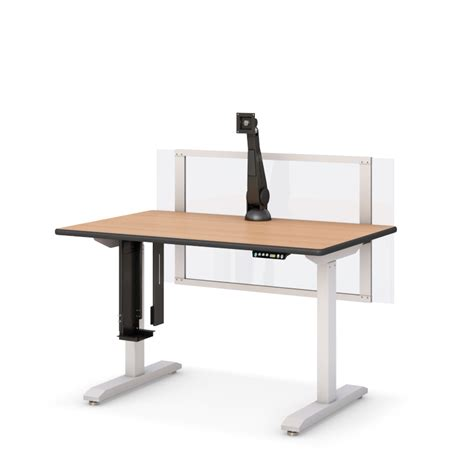 height adjustable computer desk height adjustable computer desk with partition