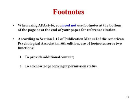 format of footnote reference library workshop for edd and rpg students learning apa