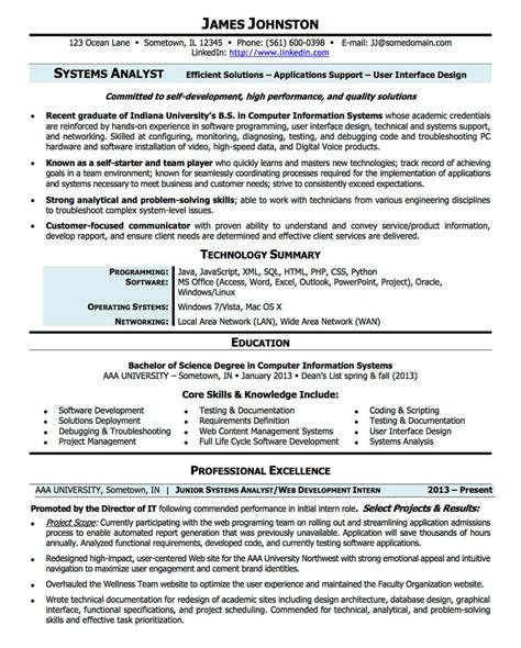 Resume Sles For Business Systems Analyst Resume Exles Cv Sle Resume Templates Rso Resumes