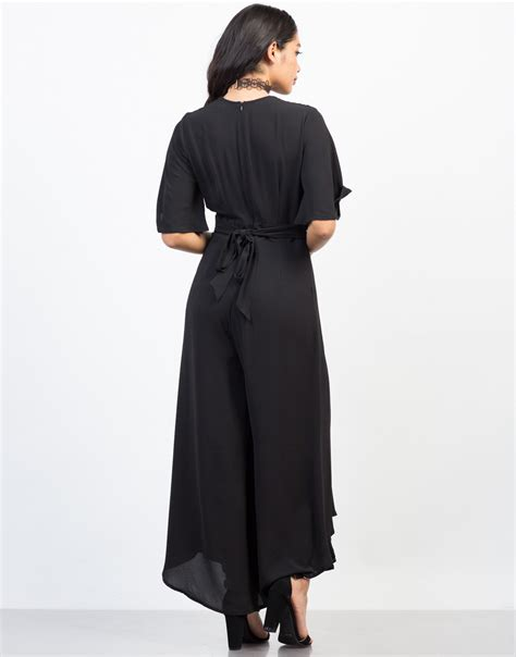 Mini Flowy Jumpsuit flowy chiffon jumpsuit plunging v neck jumpsuit black jumpsuit 2020ave