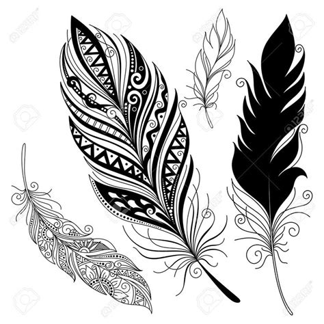 feather tattoo vector vector peerless decorative feather tribal design tattoo
