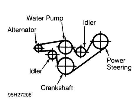 1997 ford ranger timing belt 1997 ford ranger serpentine belt routing and timing belt