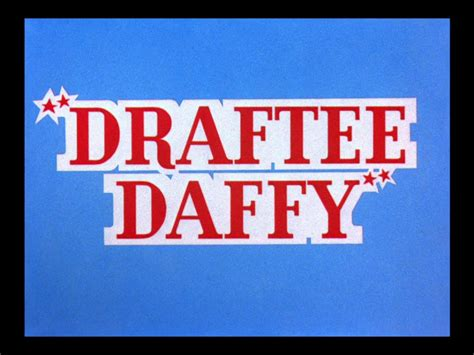 looney tunes title card template draftee daffy