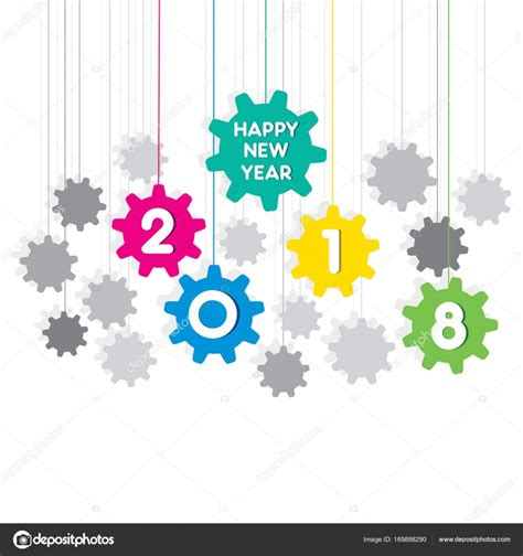 happy new year poster happy new year 2018 poster design stock vector