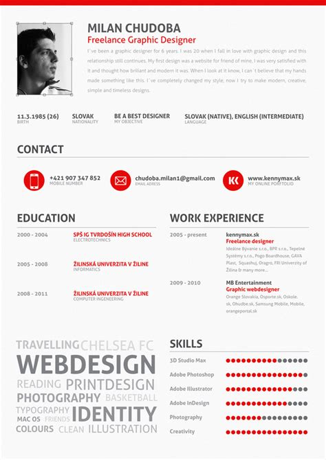 cv resume design 25 exles of creative graphic design resumes