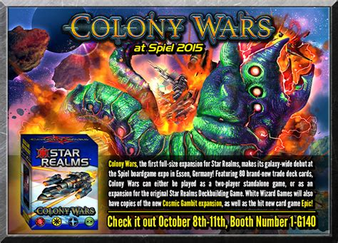 Realms Colony Wars Card realms colony wars makes its galactic debut at essen