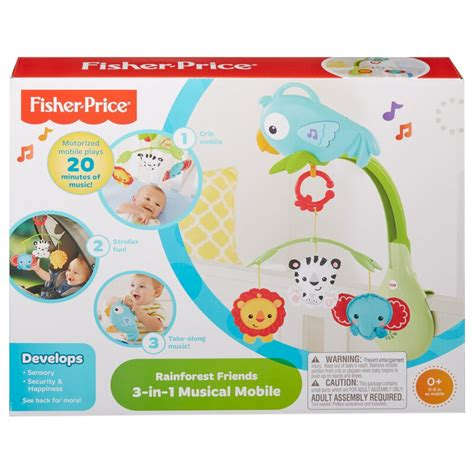 fisher price fisher price rainforest friends 3 in 1 musical mobile