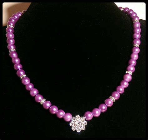 purple beaded necklace lilac purple beaded necklace lilac glass pearl beaded