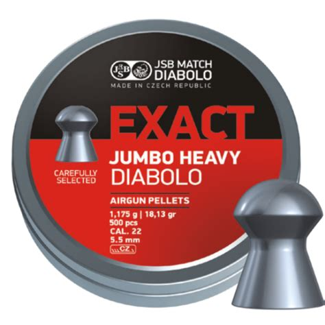 jsb jumbo exact heavy 22 air rifle pellets x500