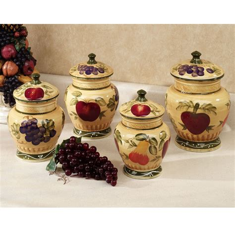 kitchen canisters sets european fruit kitchen canister set the o jays canister