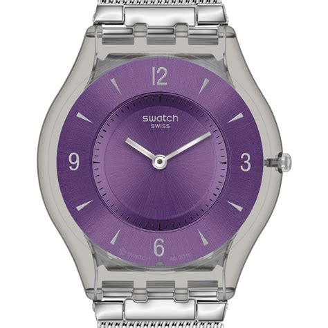 Swatch 1 Purple swatch watches skin swatch metal knit purple sfm121m