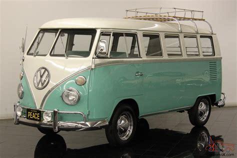 green volkswagen 1964 volkswagen type 2 deluxe 13 window micro bus restored