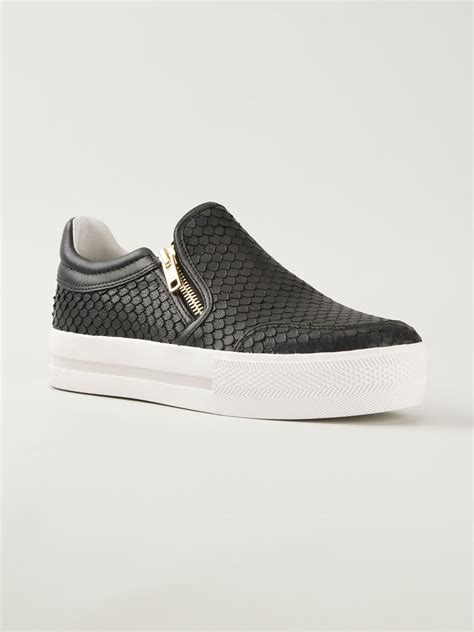 slip on sneakers ash jordy slip on sneakers in black lyst