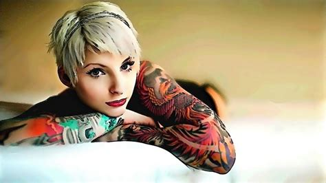 women with tattoos wallpapers high quality free