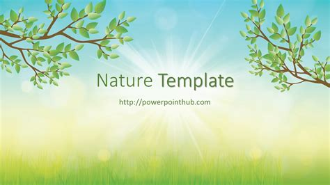 ฟร เทมเพลต ธรรมชาต Free Powerpoint Template Nature Ppt Template Free Nature