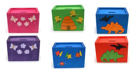 Handmade Money Boxes - fab mums 187 bargain gifts handmade wooden money boxes