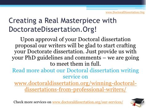 phd dissertation writing services doctoral thesis writing services