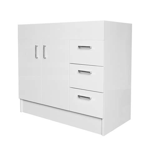 Freestanding Vanity Cabinets Estilo 900mm Vinyl Wrap Freestanding Vanity Cabinet Only
