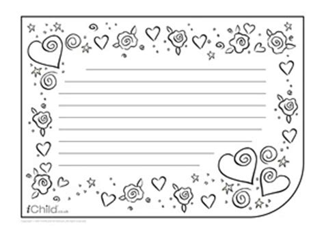 s day lined paper template card borders for writing paper new calendar template site