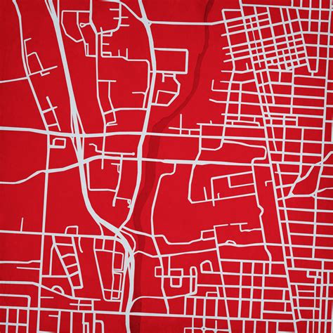 map of ohio state cus ohio state cus map city prints