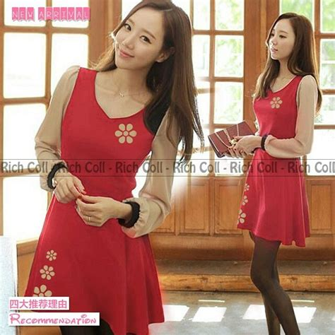 Model Baju Mini Dress Terkini Dan Murah St Frank baju mini dress simple merah model terbaru cantik