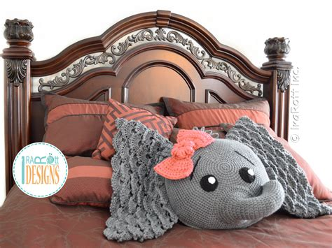 Elephant Rug Pillow Patterns Free by Crochet Elephant Pillow Home Design Garden