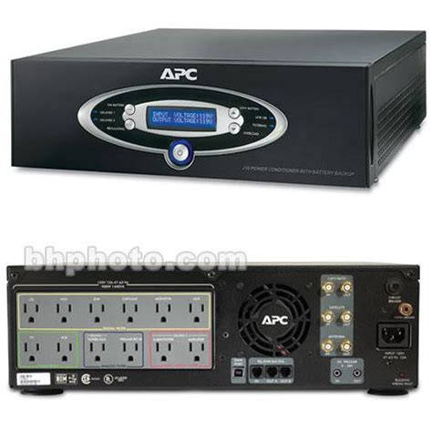 apc  home theater power conditioner surge protector jblk