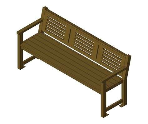 site bench bim objects families