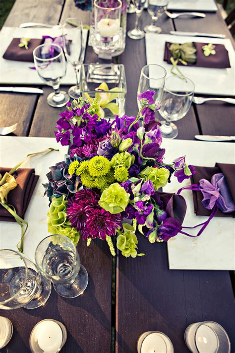 wedding table decorations purple and green purple and green wedding centerpieces fresh and wedwebtalks