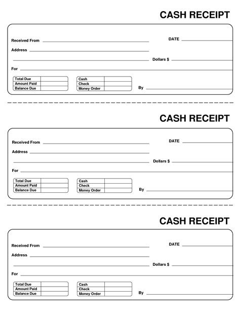 cash receipts template it resume cover letter sle