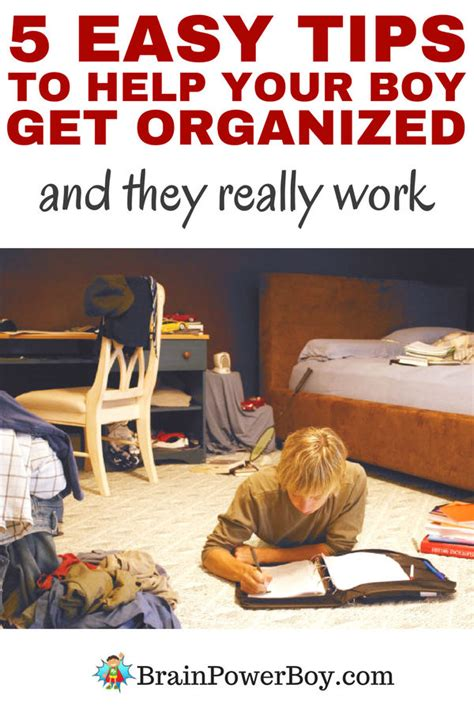 5 easy tips to help your boy get organized