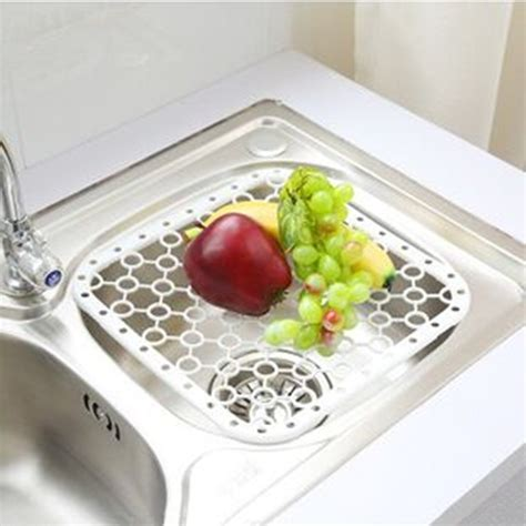multifunctional kitchen sink drain and plate placemat