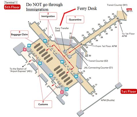 hong kong international airport floor plan ferry
