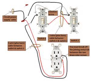 power switch 3 way switches half switched switch outlet electrical pv wiring done right