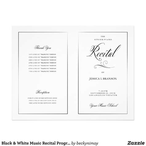 15 Best Recital Programs Images On Pinterest Recital Piano Teaching And Music Lessons Recital Ad Templates